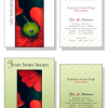 Visiting Card : Brush Stroke Designs
