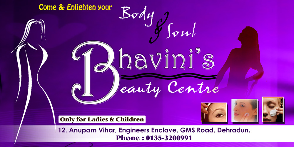 Banner Design for a Beauty Parlour based in Dehradun.