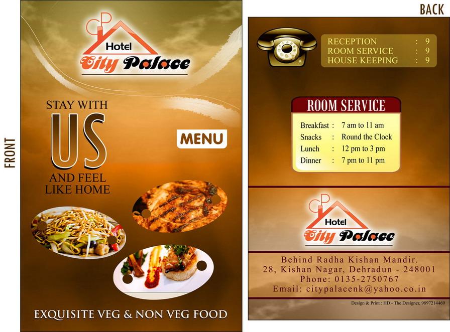 hotel menu design