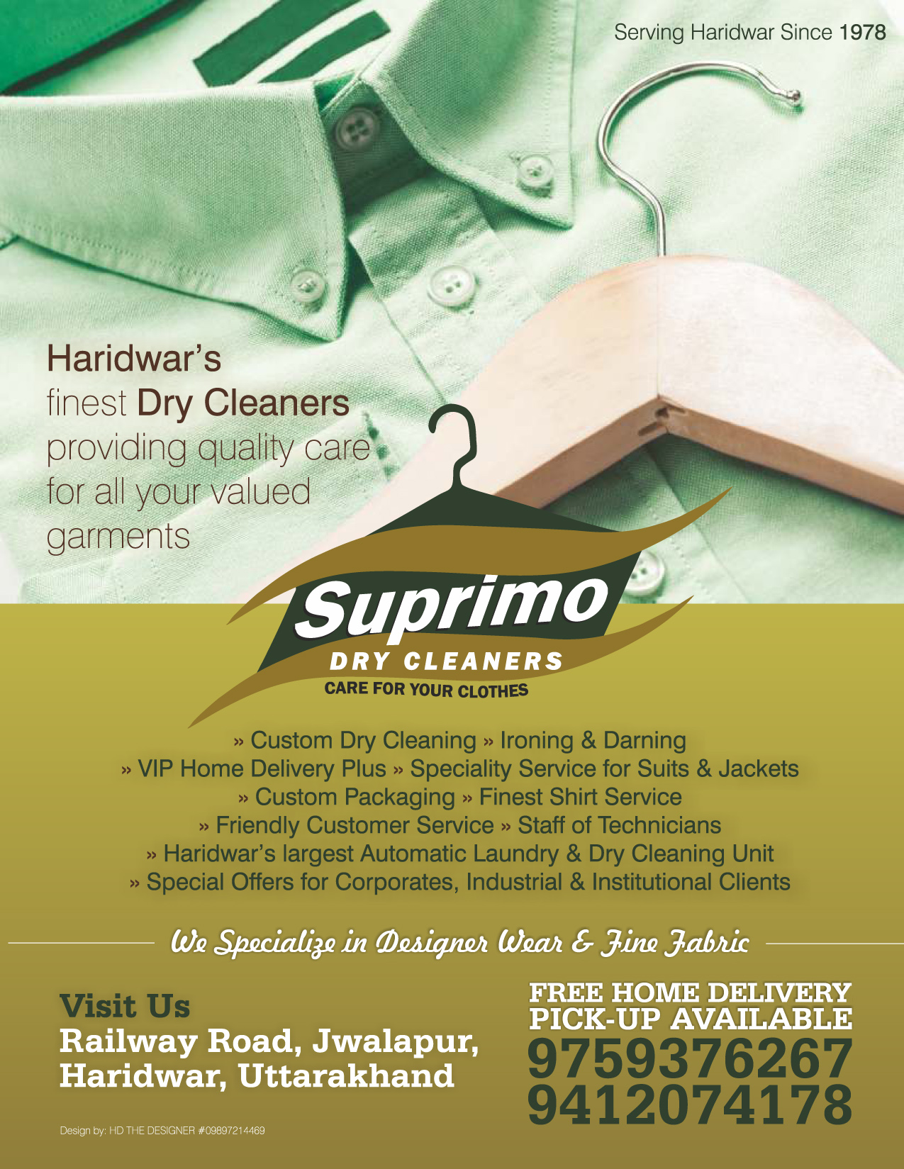 advertisement suprimo dry cleaners hd the designer advertisement suprimo dry cleaners