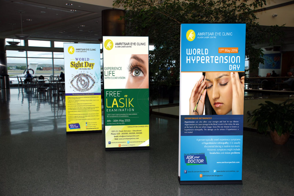 Standee Banners For Amritsar Eye Clinic Hd The Designer